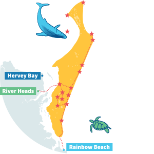 fraser island tours map
