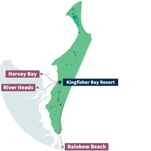 kingfisher resort map fraser island